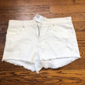 H & M white denim shorts. new with tags.